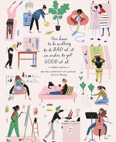 Every artist was once an amateur. Read why @libbyvanderploeg made this ♡ illustration at her IG. And enjoy your talents today. And it doesn't matter if you are a beginner or a professional. Regram @libbyvanderploeg #flowmagazine