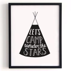 Poster 'Let's camp under the stars'