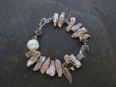 Pink Biwa Pearl Bracelet