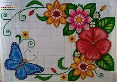 Embroidery Stitches, Embroidery Designs, Cross Stitch Flowers, S Pic, Pikachu, Projects To Try, Tapestry, Kids Rugs, Pictures
