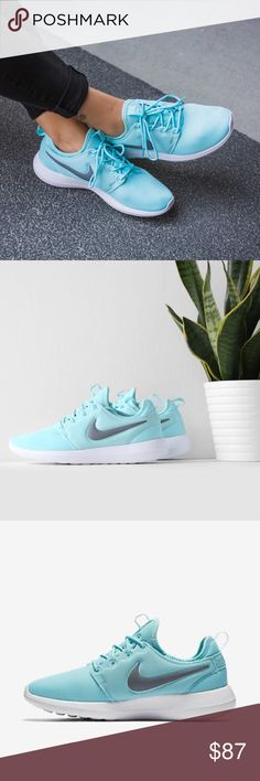 ⚡️LAST PAIR ⚡️{Nike} Blue Roshe Two Women's size 9. Super cute  and go with any outfits. Color: copa - cool grey - white. Good for running, training....Brand new in box, never been worn. Price is firm.   ❌ NO TRADES - SELLING ON POSH ONLY ❌ ❌ NO LOWBALLING ❌  ✅ Bundle Discounts ✅ Ship Next Day of Purchase  💯 % AUTHENTIC Nike Shoes