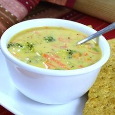 "Copycat Panera® Broccoli Cheddar Soup | ""It was definitely a delicious and thick soup, just like Panera's. Yum!"""