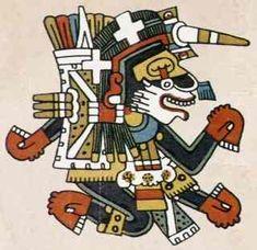 """Xolotl.  """"Dios del Lucero de la tarde  Significa perro, gemelo. Es representación de nuestro instinto sexual y del entrenador psicológico que cargamos dentro."""""""