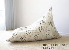 Authentic Mudcloth Boho Lounger Mudcloth Pouf Boho Pouf | Etsy