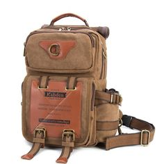 3e4c40ad90b5 [US$94.97] Ekphero® Men Outdoor Large Capacity Canvas Multifunction Chest  Bag Crossbody Bag