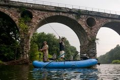Reading Eagle writer Grant Mahon, left, and fly-fishing guide Jake Villwock cast for smallmouth bass and muskie on the Schuylkill River at Peacock's Bridge. Berks County's largest waterway is making a resurgence from its tarnished past.  | Reading Eagle - BERKSCOUNTRY #Schuylkill #Schuylkill-River #river #water #fish #fishing #fly-fishing  #minnow #smallmouth-bass #bass #fishing-rod #heron