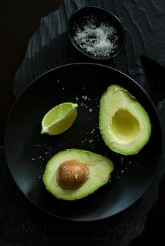Avocado with lime and salt - a healthy snack that gets you a dose of Omega-3's for shiny hair and glowing skin.