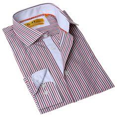 BriO Milano Men's Button Down Dress Shirt