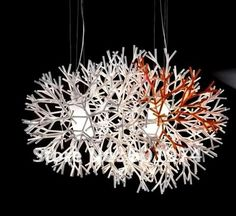 Free shipping   Hot Selling Wholesale Pallucco design Coral Chandelier(dia 60cm) Art  pendant lamp  indoor lighting-in Chandeliers from Ligh...