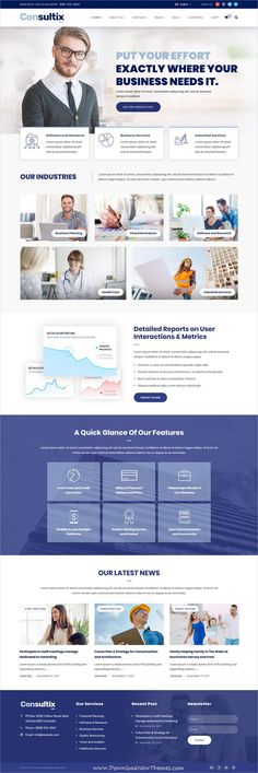 Consultix is clean and modern design responsive WordPress template for professional corporate business and financial services website with 14 niche homepage layouts to live preview & download click on image or Visit #fintech #webdesign #wpthemes