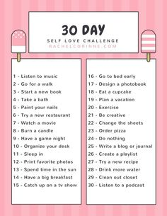 Day Self Love Challenge A new month is coming up. Get started on this 30 day self love challenge right away!A new month is coming up. Get started on this 30 day self love challenge right away! Happiness Challenge, Love Challenge, Health Challenge, Monthly Challenge, Drawing Challenge, 30 Day Challenge Journal, Healthy Eating Challenge, Thigh Challenge, September Challenge