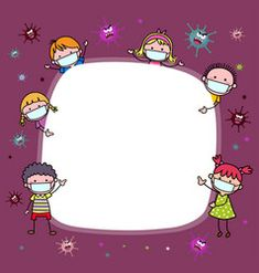 Background with children wearing protective masks vector Cute Wallpaper Backgrounds, Wallpaper Iphone Cute, Cute Wallpapers, Teacher Wallpaper, Hand Washing Poster, Snail Craft, Powerpoint Background Design, Kids Background, School Images