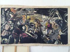 "2005 "" After Tinterretto "" Egg Tempera On Canvas Sevan Malikyan"