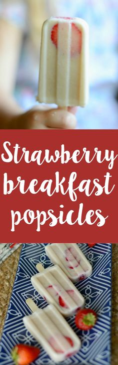 Need a cool breakfast treat? These strawberry banana breakfast pops are the answer! Make them the night before and have breakfast ready to go in the morning Breakfast Popsicles, Smoothie Popsicles, Strawberry Breakfast, Banana Breakfast, Strawberry Banana, Strawberry Fields, Breakfast Ideas, Smoothies, Breakfast Recipes