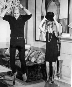 "Bob Fosse and Shirley MacLaine on the set of ""Sweet Charity"""