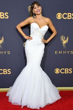 See All the Stars on the 2017 Emmys Red Carpet - Sofia Vergara from InStyle.com