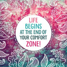 Life begins at the end of your Comfort zone by ScentOfArt on Etsy