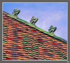 Detail of an old roof in Basel, Switzerland