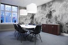 Looking for a surface wallpaper that has lived a little? Fragments, Charcoal has mystery and depth embedded within the design. Perfect Dark, Wall Murals, Rebel, Wallpaper, Walls, Design, Furniture, Home Decor, Wall Papers