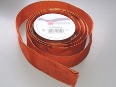 Prasent Orange Sparkle pattern 1.5 in. x 6 feet 100% Polyester Christmas Ribbon - Great for the Holiday Season! ** Check out this great product.