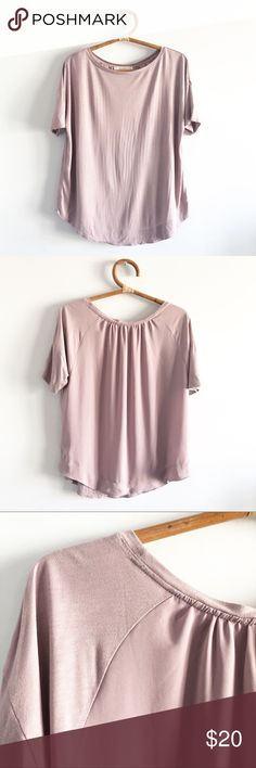 L NWT ANN TAYLOR Barely Blush Pleat Flare Sleeve Off The Shoulder Sweater S
