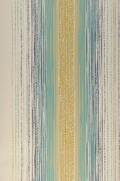 103,83$ Preço por rolo (por m2 14,98$), Papel de parede listrado, Material base: Papel de parede à base de papel, Superfície: Liso, Vinil, Efeito: Mate, Design: Listas, Cor base: Marfim claro, Cor do padrão: Bege acinzentado claro, Turquesa menta, Amarelo ocre, Azul violeta, Características: Resistente à luz, Removível com água, Lavar com detergente e escova , Baixa inflamabilidade, Colar no papel de parede