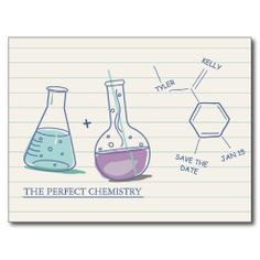 Perfect Chemistry Save The Date Postcards
