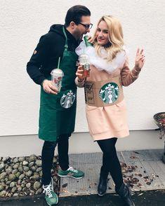 Starbucks Pärchenkostüm - ein DIY Couple Costume zum nachmachen und selber basteln, für Fasching, Halloween, Karneval und andere Mottopartys