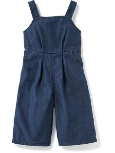 Denim Culotte Overalls for Baby