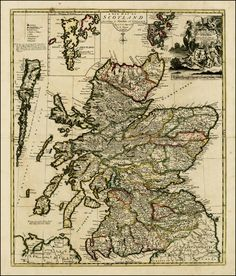 A New Map of Scotland According to Gordon of Straloch . . . 1721 - Barry Lawrence Ruderman Antique Maps Inc.