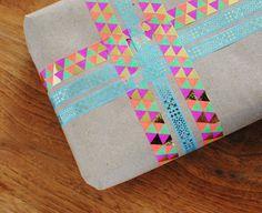 kraft paper + washi tape