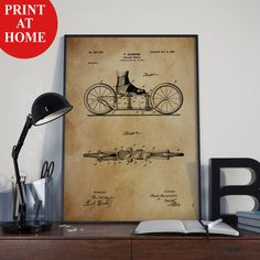 Roller Skates Patent Art Print-Old Athletic Poster-Patent Prints-Patent Poster-Printable Wall Art-Man Cave Decor-Boyfriend Gift-Husband Gift