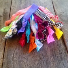 20 Assorted Hair Ties Ponytail Holders by ElasticHairBandz on Etsy, $19.95