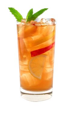 Southern Peach Tea - WHATS INSIDE: 1.5 oz Smirnoff Peach 2 fl oz Lemonade 1 fl oz Ice Tea 0.5 fl oz Simple Syrup 2 leaves Mint