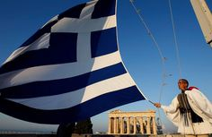 Each morning on the top of the Acropolis in Athens, Greece Greek Flag, Go Greek, Paros Greece, Athens Greece, Mykonos, Hellenic Army, Western Philosophy, Greek Culture, In Ancient Times