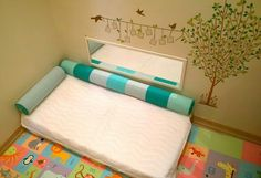Montessori floor bed, mirror