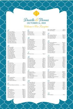 Seating Chart Inspiration 50