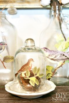 Easy Fall Decor: Decoupaged Glass Jars and BottlesTutorial