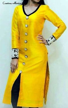 Kurti.... lovely....ofcource yellow. ... awasome. ..