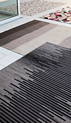 Outdoor rugs with a