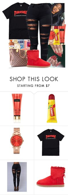 """thrasher"" by bow-girl531 ❤ liked on Polyvore featuring Victoria's Secret, Carmex, Marc by Marc Jacobs and UGG Australia"