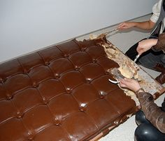 Leandro Erlich's Chocolate Mies van der Rohe Barcelona couch Cake