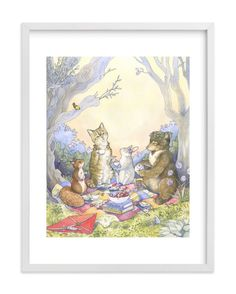 """""""Twilight Tea"""" - Art Print by Natalie Groves in beautiful frame options and a variety of sizes."""