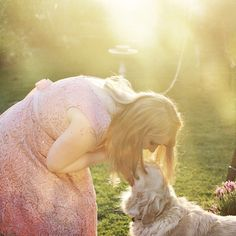 Love this snap of @disney_stephie and her Mia yesterday ☺️ #dogsofinstagram #goldenhour #photography #photos #moment