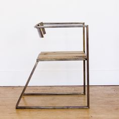 Dovetail brass chair by Seattle design pair Tamara Codor and Sterling Voss. Sold via Nube Green. Iron Furniture, Steel Furniture, Design Furniture, Chair Design, Modern Furniture, Home Furniture, Welded Furniture, Furniture Buyers, Cheap Furniture