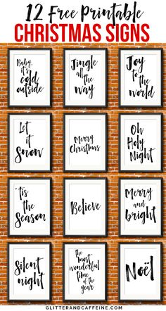 12 Free Printable Christmas Signs To Decorate Your House For The Holidays - Glitter and Caffeine