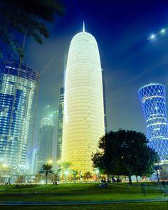 Qatar | Doha Tower. view on Fb https://www.facebook.com/SinbadsQatarPocketGuide  credit: Sam Agnew