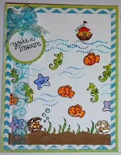 DeNami Sea Friends card by @Christy Pratt