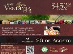Vendimia en García, NL / 26 Agosto 2012