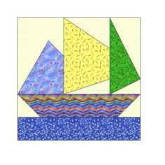 (10) Name: 'Embroidery : Sailing Paper Piecing Pattern -059A
